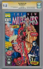 New Mutants  #98 CGC 9.8 Signature Series Signed Stan Lee 1st Appearance Deadpool Marvel comic book